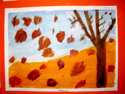 Halloween Crafts - Pumpkin and Autumn Leaves Place Mats